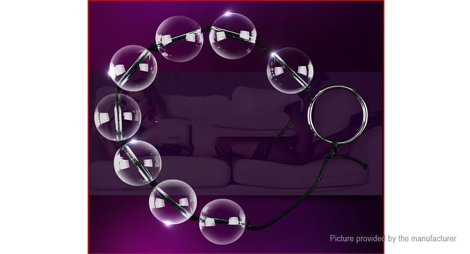 MizzZee Male Crystal Glass Anal Plug Beads Sex Toy (Size L)