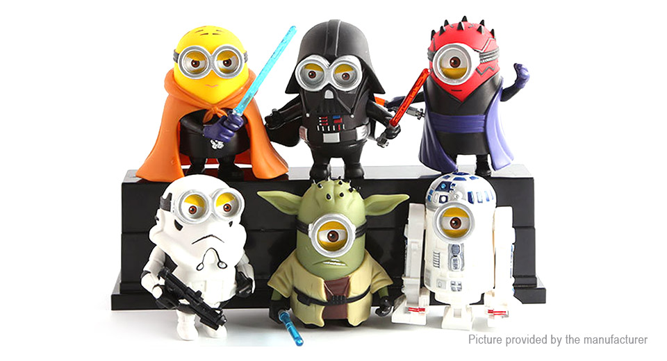 Star Wars Cartoon Mini Capsule Figure Doll Toy Set (6 Pieces)