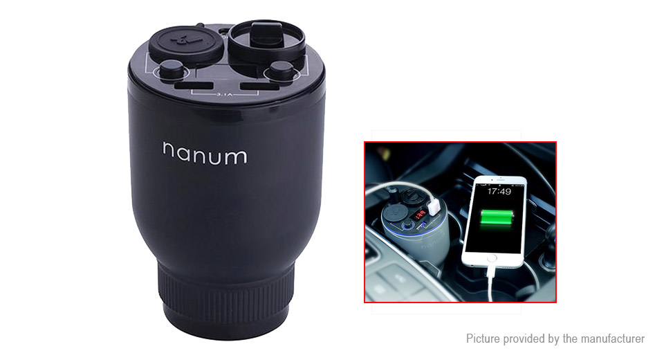 NANUM KXQ01 Dual USB Car Charger Aroma Diffuser Air Purifier