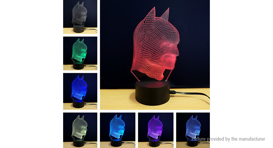 Spider-Man Styled 3D Visual LED Night Lamp Atmosphere Light