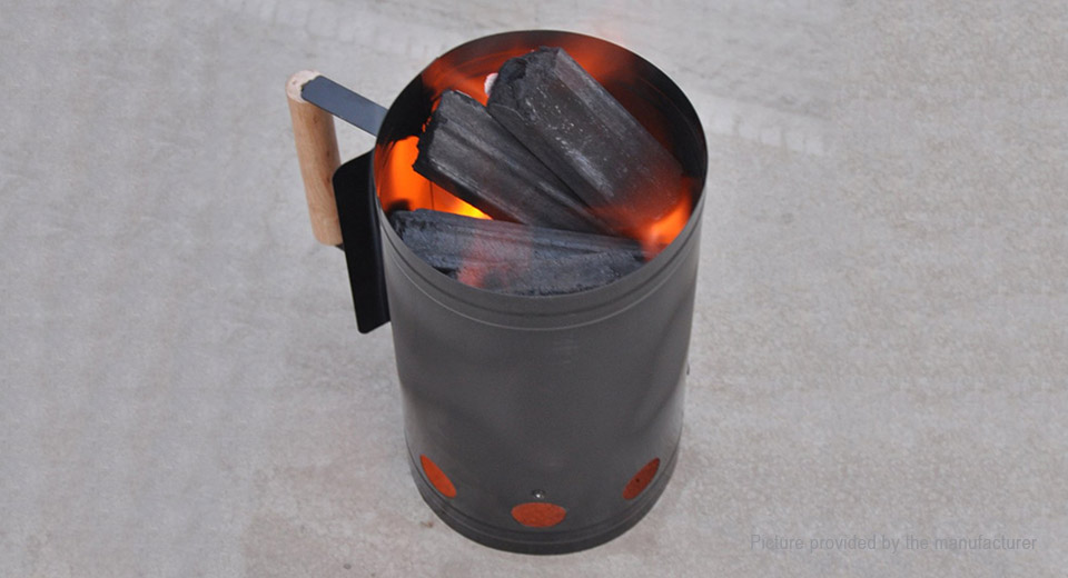 Portable Outdoor Camping Wood Burning Stove Firewood Charcoal Lighter