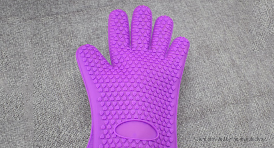 Thicken Silicone Heat Resistant Grilling BBQ Cooking Protective Glove