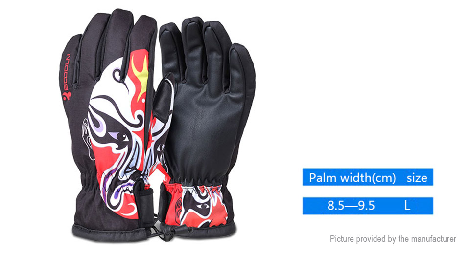 BOODUN Unisex Outdoor Cycling Windproof Full-finger Warm Keeping Gloves (Size L)