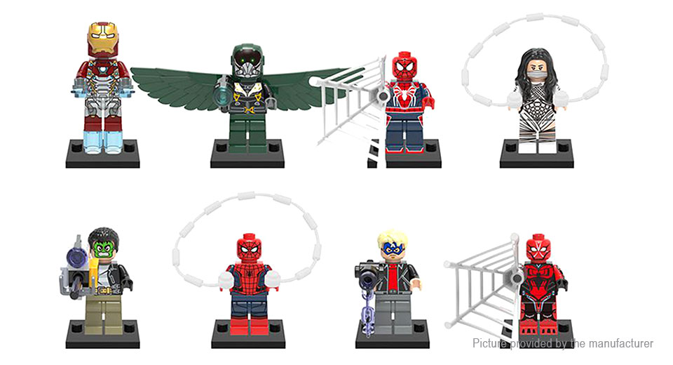 POGO XINH Marvel Super Hero Series Figures Building Blocks Educational Toy (8 Pieces)