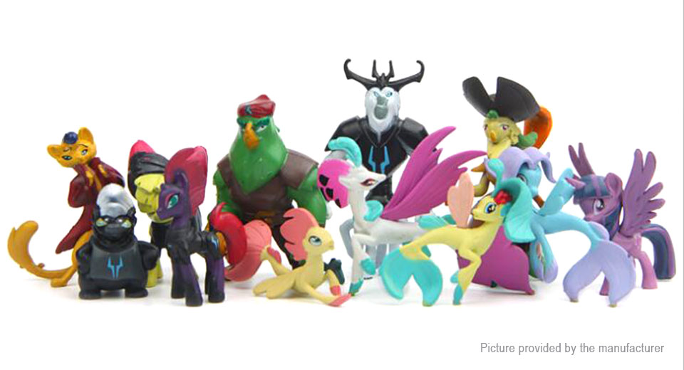 My Little Pony Series Action Figure Doll Toy Set (12 Pieces)