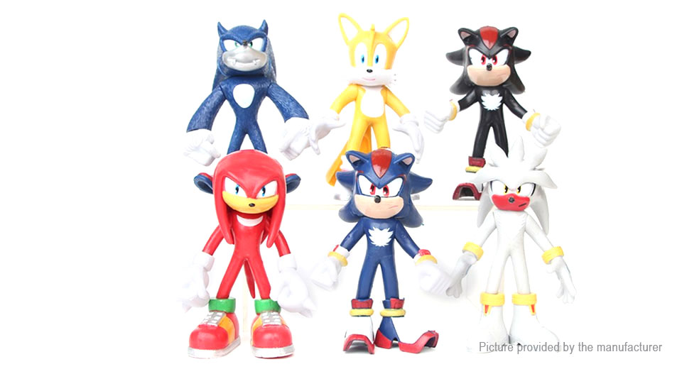 Sonic the Hedgehog Series Action Figure Doll Toy Set (6 Pieces)