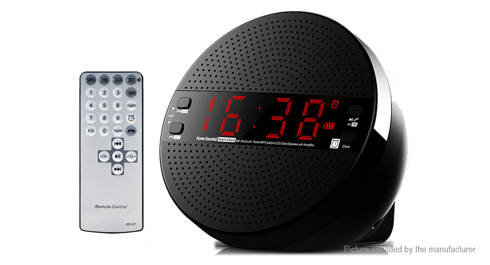 LEADSTAR MX-21 Portable Desktop Alarm Clock Bluetooth V4.2 Speaker MX-21, Black