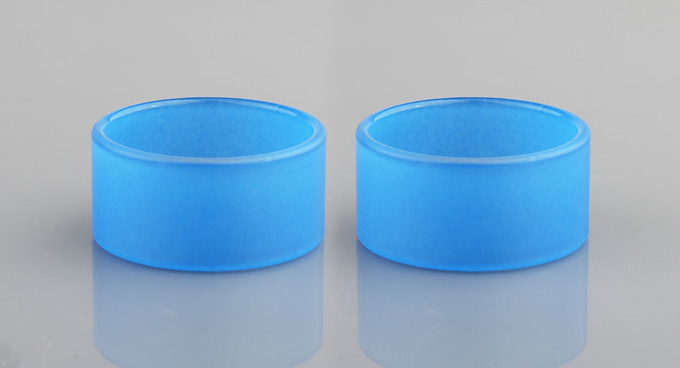 Replacement Glass Tank for VGOD Elite RDTA Atomizer (2-Pack) Elite, Glass, Blue, Color Changing, 2-Pack