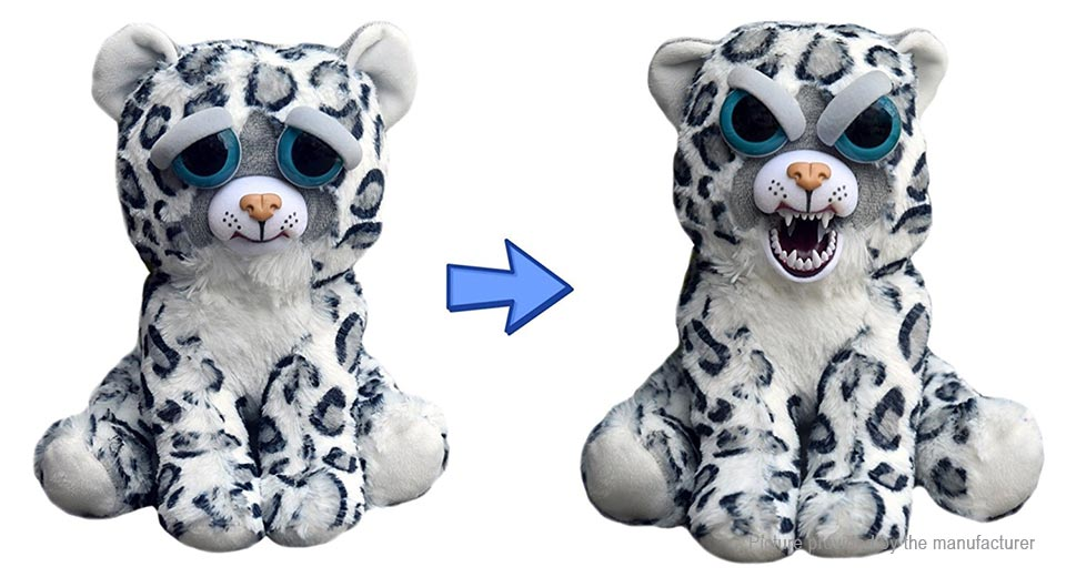 15 34 Free Shipping Feisty Pets Lethal Lena Snow Leopard Stuffed
