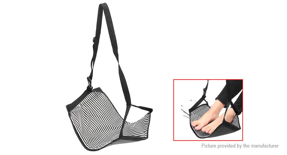 Portable Travel Cotton Knitted Footrest Flight Carry-on Foot Relief Hammock