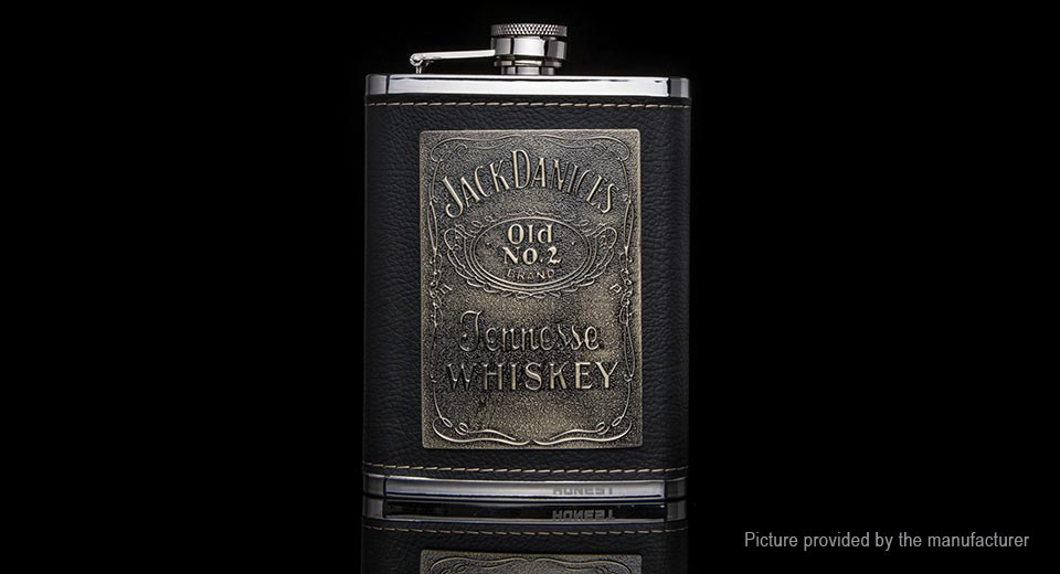 Honest Portable Stainless Steel Whiskey Hip Flask Flagon Wine Pot (8oz)
