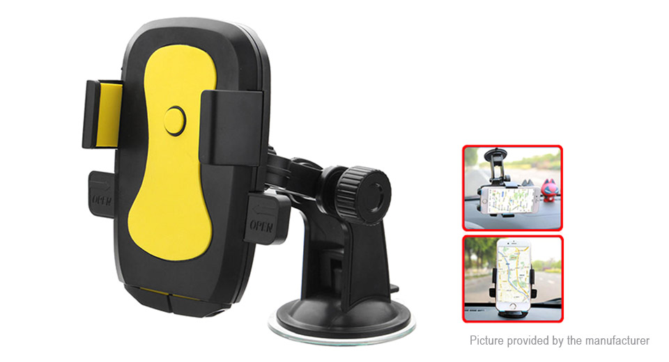 Auto Lock Suction Cup Car Dashboard Windshield Mount Phone Holder