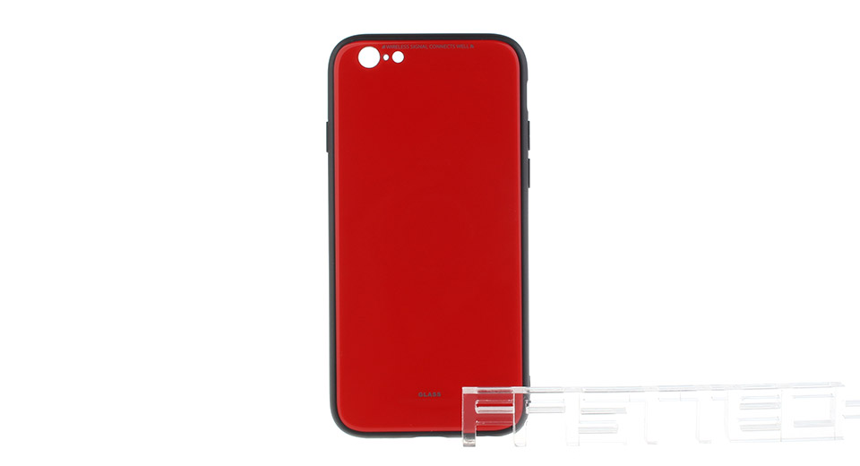 TPU + PC + Tempered Glass Protective Back Case for iPhone 6