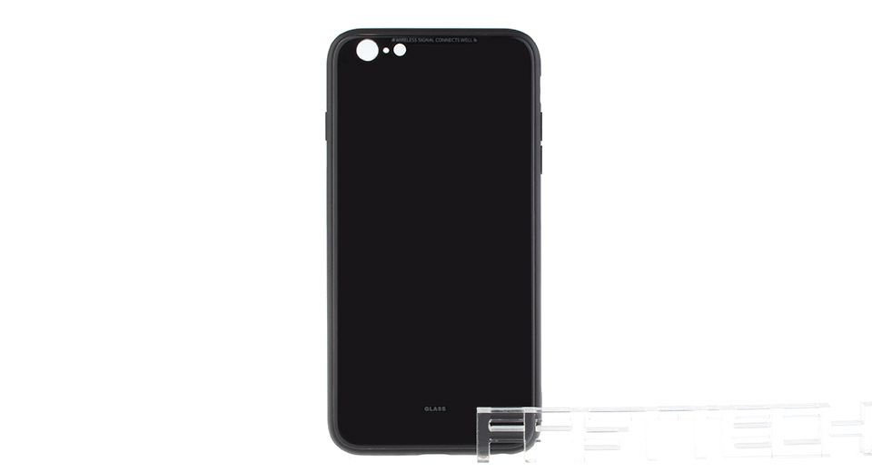 TPU + PC + Tempered Glass Protective Back Case for iPhone 6 Plus