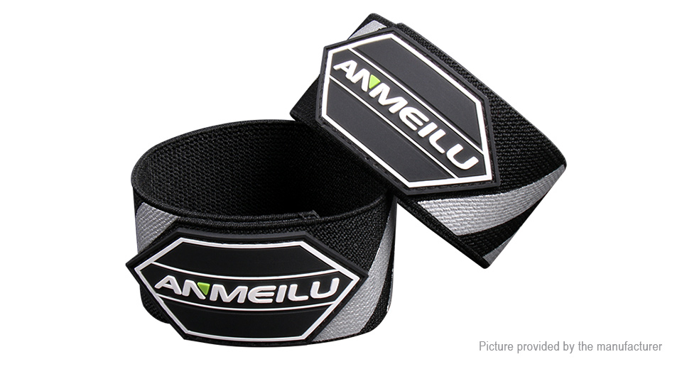 Anmeilu Outdoor Cycling Safety Warning Reflective Stripe Pants Leg Strap (Pair)