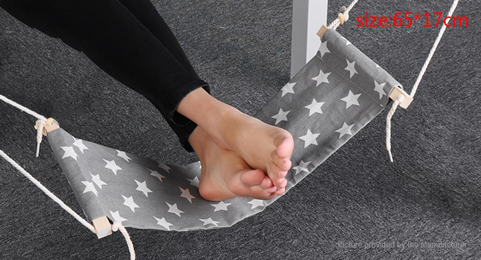 Portable Travel Footrest Relief Carry-on Feet Rest Hammock