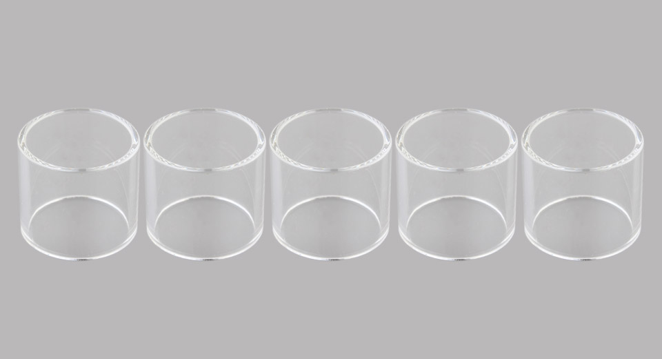 Replacement Glass Tank for Mini V3 Plus RTA Atomizer (5-Pack)