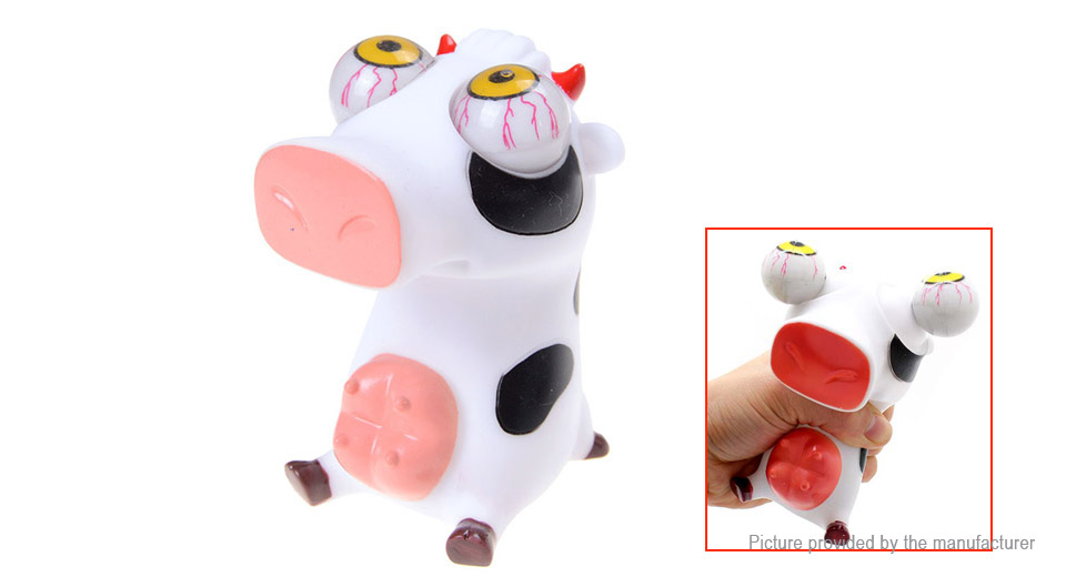 Pop Out Eyes Doll Cow Stress Reliever Relief Squeeze Toy