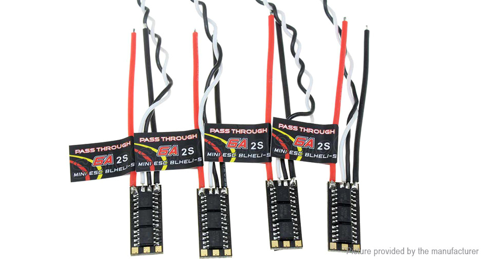 SoloGood PT-6A 60A BLHeli-S Brushless ESC Electronic Speed Controller (4-Pack)