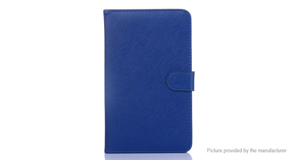 """8"""" Portable Qwerty Keyboard + PU Leather Stand Case for Tablet PC 8"""", Blue"""