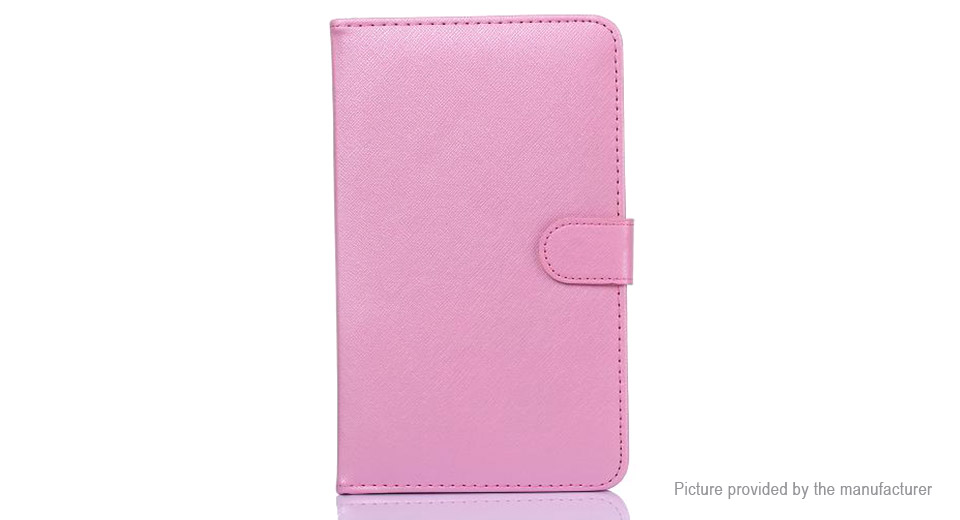 """10.1"""" Portable Qwerty Keyboard + PU Leather Stand Case for Tablet PC 10.1"""", Pink"""
