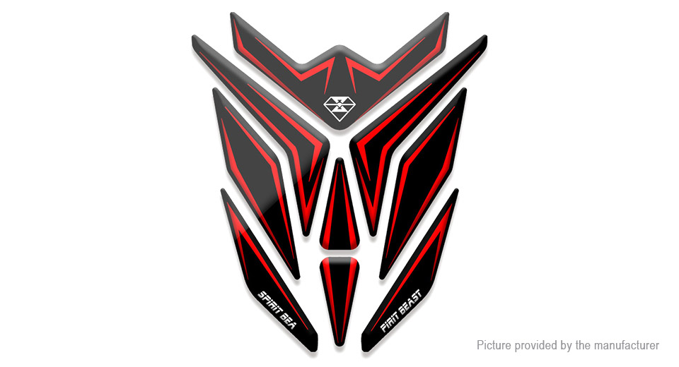 Spirit Beast 3D Motorcycle Tank Gas Protector Pad Cover Reflective Sticker Decals