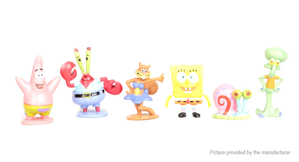 SpongeBob SquarePants Series Action Figure Doll Toy Set (6 Pieces)