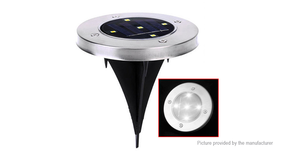 Outdoor Solar Powered Garden Yard Path Floor Buried Ground Lamp