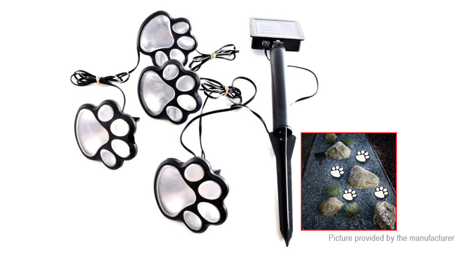 Paw Print Solar LED Garden Lawn Light