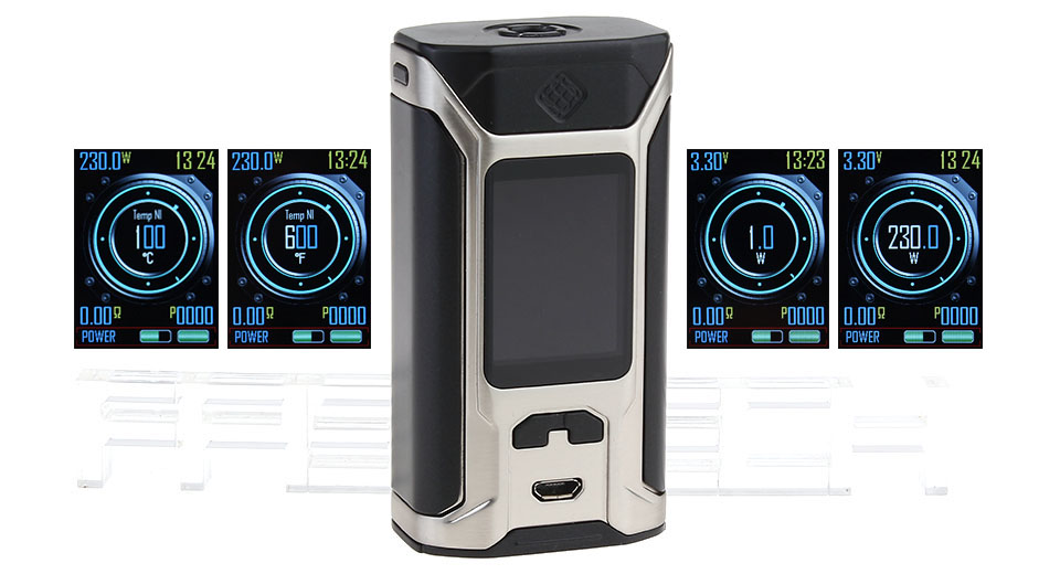 Product Image: authentic-wismec-sinuous-ravage230-200w-tc-vw-apv