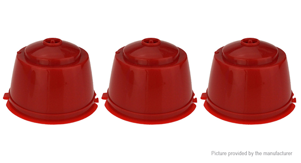 Refillable Reusable Coffee Capsule Cup for Dolce Gusto Machine (3-Pack)