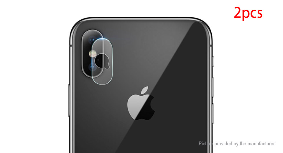 Authentic HOCO Tempered Glass Rear Camera Lens Protector for iPhone X (2-Pack)
