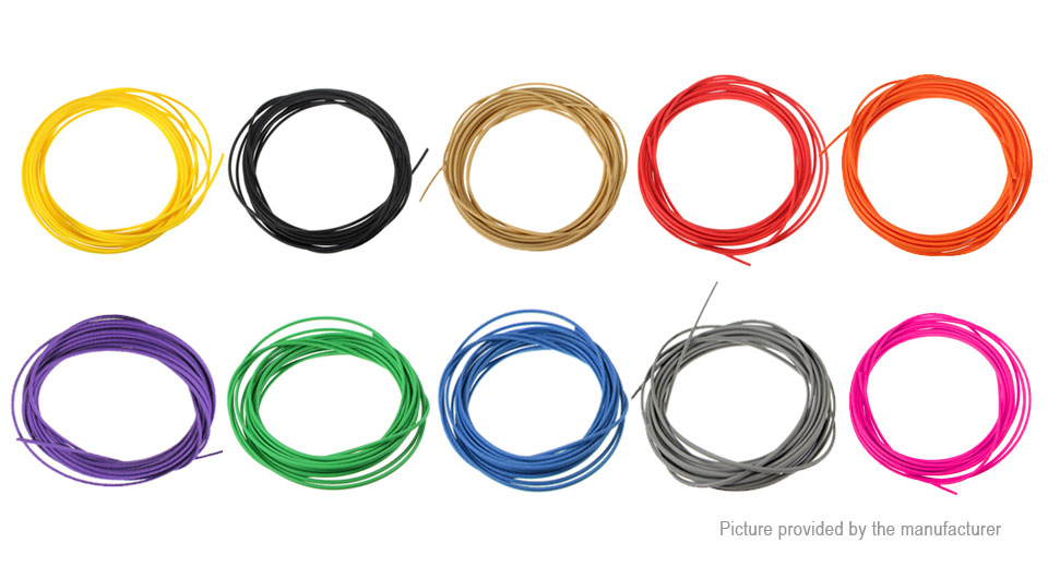 5m 1.75mm PCL 3D Printer Filament (10 Pieces)
