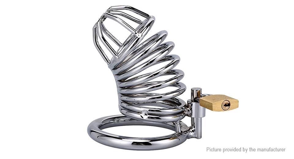 Runyu Stainless Steel Male Loyalty Chastity Lock Cock Cage