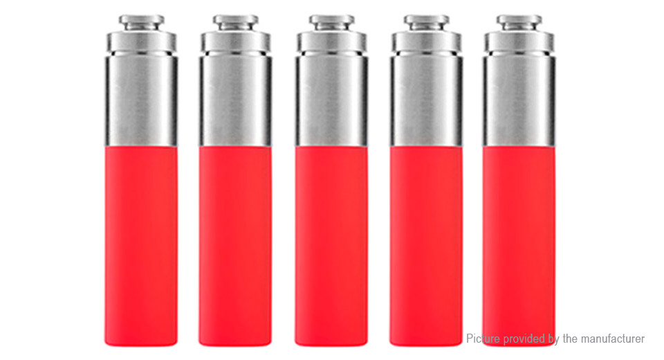 Authentic Stentorian RAM Mechanical Mod Replacement Squonk Bottle (5-Pack) Silicone + SS, 30ml, Red, 5-Pack
