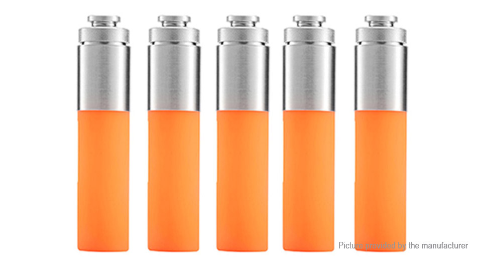 Authentic Stentorian RAM Mechanical Mod Replacement Squonk Bottle (5-Pack) Silicone + SS, 30ml, Orange, 5-Pack