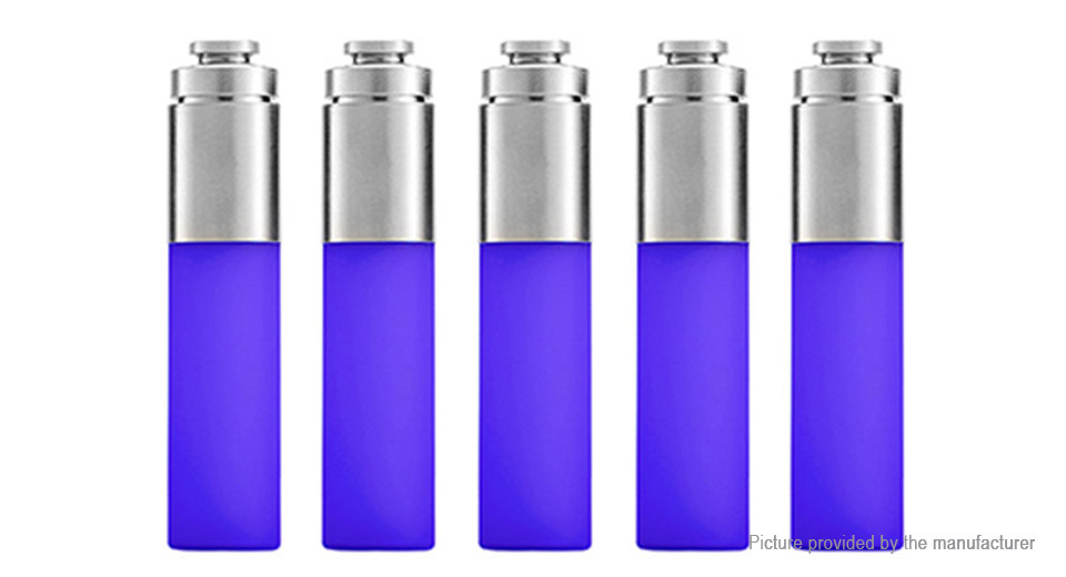 Authentic Stentorian RAM Mechanical Mod Replacement Squonk Bottle (5-Pack) Silicone + SS, 30ml, Blue, 5-Pack