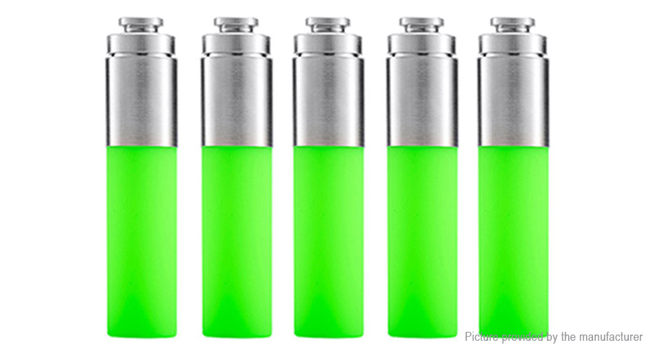 Authentic Stentorian RAM Mechanical Mod Replacement Squonk Bottle (5-Pack) Silicone + SS, 30ml, Green, 5-Pack
