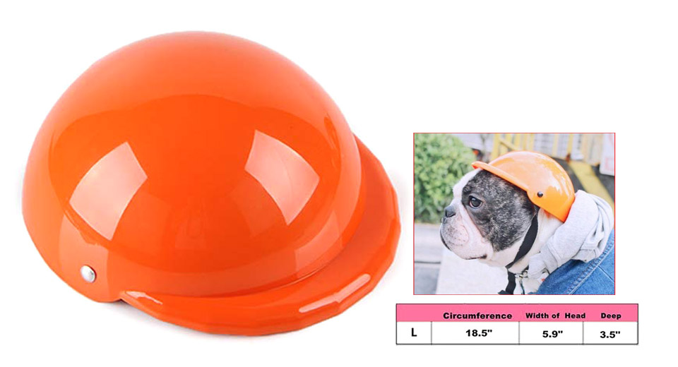 Pet Dog Cat Motorcycle Bicycle Helmet (Size L) Orange, Size L