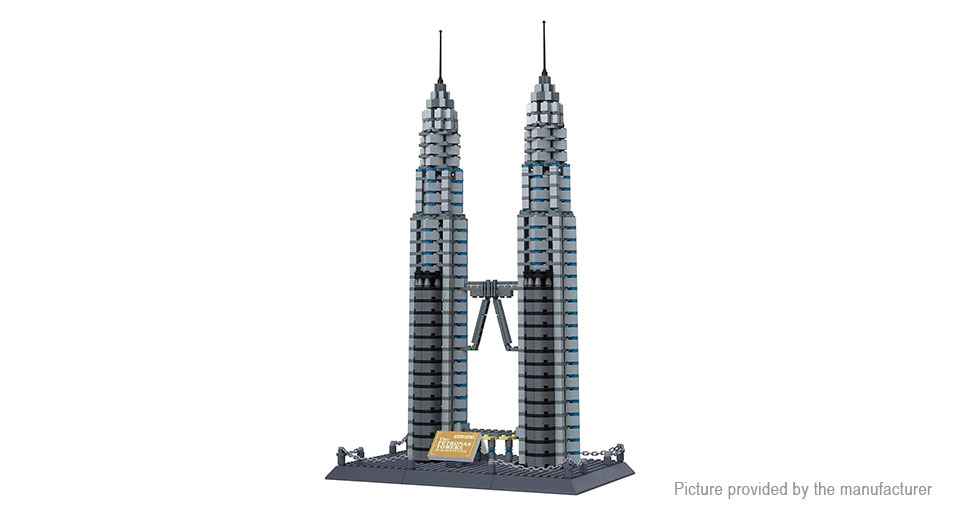 Wange 8011 Petronas Towers Building Blocks Educational Toy 8011, Petronas Towers