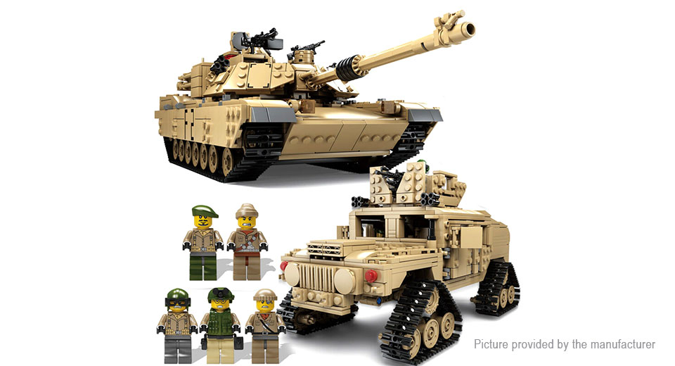 KAZI 10000 Theme Tank Building Blocks Educational Toy 10000, Theme Tank