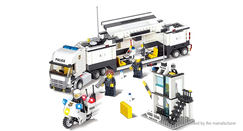 KAZI 6727 Police Command Vehicle Building Blocks Educational Toy 6727, Police Command Vehicle
