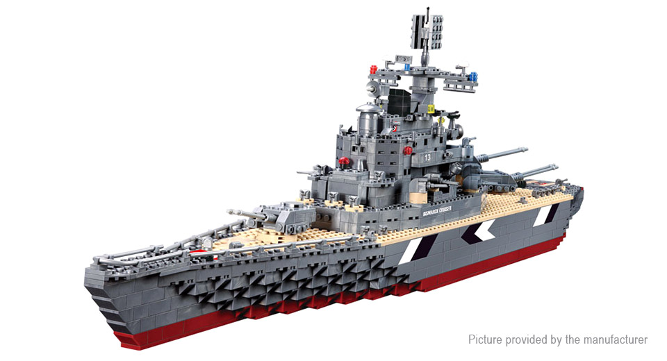 KAZI 82012 Military Bismarck Battleship Building Blocks Educational Toy 82012, Military Bismarck Battleship