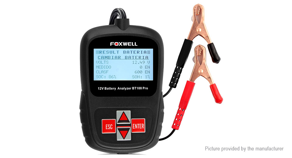 Authentic FOXWELL BT100 Pro 12V Battery Analyzer