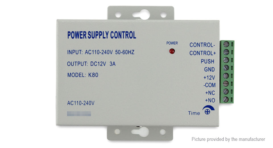 DC 12V 3A Power Supply Control Switch Door Access Control System
