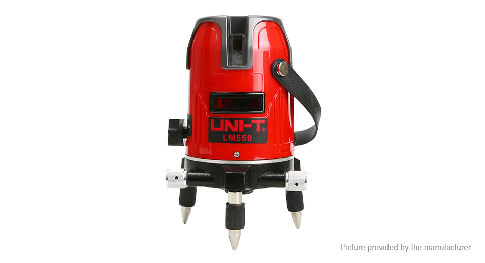 Authentic UNI-T LM550 360 Degree Self-leveling 5 Lines Red Laser Level
