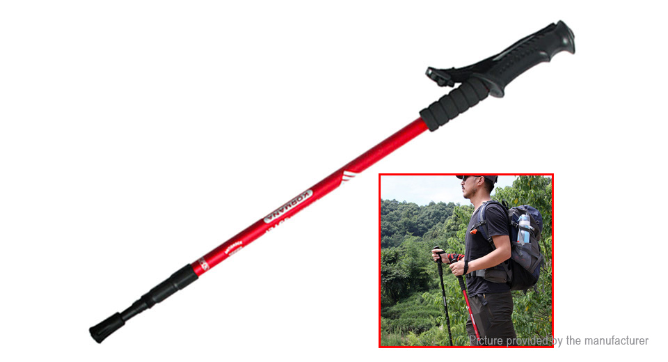 KORAMAN Telescopic Climbing Trekking Pole Walking Stick Alpenstock