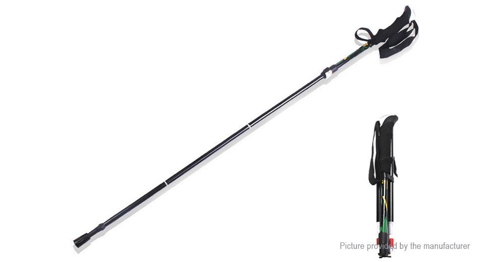 Portable Folding Hiking Walking Stick Trekking Pole Alpenstock