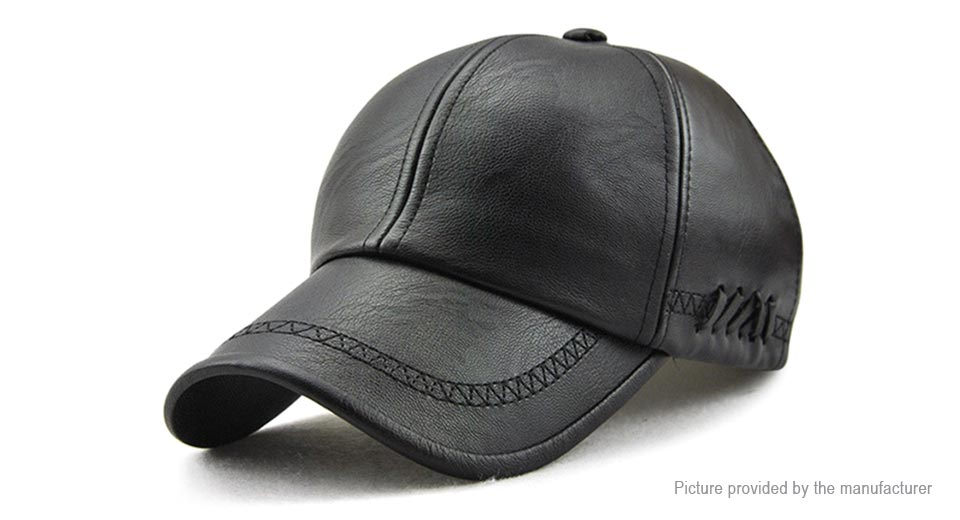 Product Image: jamont-men-s-pu-leather-baseball-cap-sun-hat