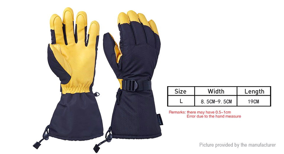 OZERO Outdoor Cycling Skiing Full Finger Gloves (Size L/Pair)